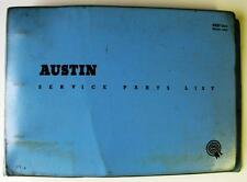 AUSTIN MINI COOPER 998cc - Car Parts List + Supplement - 1962 - #AKD1932
