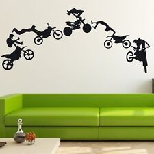 Motocross Motor Bike Wall Decor Removable Home Vinyl Decal Sticker Art DIY Mural