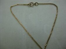"""19.2KT ROSE GOLD Cuban or Cable Link CHAIN-16"""" Imported from Portugal   #02-034"""