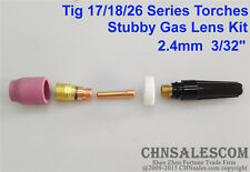 5 pcs TIG Welding Torch Stubby Gas Lens Kit for Tig WP-17/18/26 Series 3/32""
