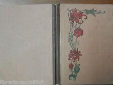 Vecchio quaderno scolastico scuola d epoca con DECORO FLOREALE appunti filosofia