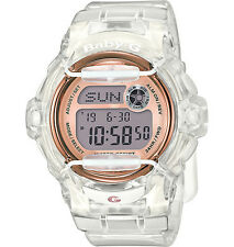 Casio Women's Semi Transparent White with Rose Gold Accent BG169G-7B