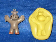 Hippo Push Mold Resin Clay Candy Food Safe Silicone  #688 Chocolate Fondant Wax