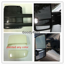 07-13 Silverado Sierra Towing Mirrors Power Heated Smoke LED Signal Backup Lamp