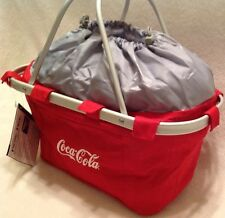 Coca-Cola Metro Red Collapsible Canvas Basket