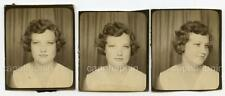 Pretty Teen Photobooth Girl Lot of 3 Vintage 1950s Booth Photos