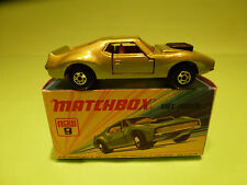 MATCHBOX LESNEY 9 AMX JAVELIN - GREEN - RARE SELTEN - GOOD CONDITION IN BOX