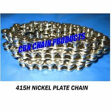 415H x 110 Chain Motorized Bike Chain, Nickel Plate Chain,  110 Links WOW