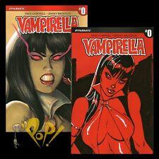 VAMPIRELLA #0 J Scott CAMPBELL (1:100) & Joe Linsner (1:50) VARIANT Cover Set VF