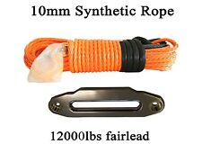 "3/8""*100ft Synthetic Rope with12000lbs Fairlead,Towing Rope for 4wd SUV ATV Jeep"