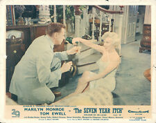 Seven Year Itch Marilyn Monroe pours champagne for Tom Ewell lobby card UK