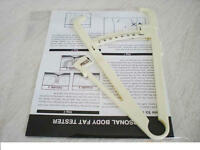 BODY FAT TESTER CALIPERS WITH MANUAL & BODY FAT CHARTS