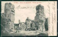 Roma Città Terme di Caracalla cartolina XB4614