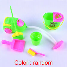 6 in1 Mini Cleaning Tool Set Home Furniture for Barbie Doll House Random Color
