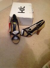 Ladies shoes new size 4 brown and beige ( no 25 )