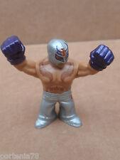 WWE Rumblers REY MYSTERIO Silver Pants Purple Gloves LOOSE