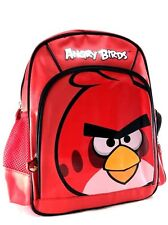 "Rovio Angry Birds Look At You Cargo Red Boys & Girls 12"" Canvas School Backpack"