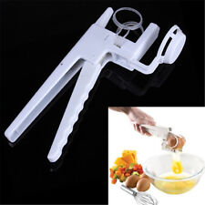 Egg Cracker Handheld York & White Separator On TV Kitchen Gadget Tool Helper