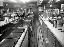 1952 Soda Fountain Shop from behind the Counter  8 x 10  Photograph