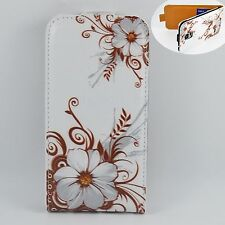 ID Card Holder Flip Vertical Leather Case Cover For Samsung Galaxy S5 S V i9600