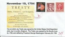 Nov 19, 1794 Jay Treaty Signed in London  #2of4 Cachet Cover w/ Sct#1046 &  #707