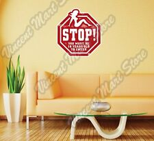 """Sex Girl Adult Stop Sign Grunge Stamp Wall Sticker Room Interior Decor 22""""X22"""""""