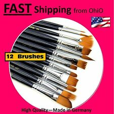 12X Artist Paint Brush Set Art School Supplies - - 12 Piece - - 12 Pack - - Bulk