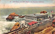 California postcard Cliff House from Sutro Heights San Francisco ca 1913