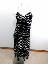 VOLCOM STONE ROW WOMENS BLACK POLYESTER COTTON LINED SUN DRESS SIZE 12