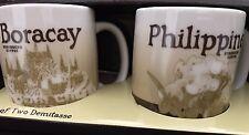 NEW Starbucks BORACAY-PHILIPPINES Version 2 mini-mug 3-oz demitasse set of 2