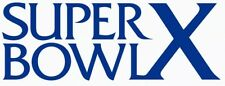 Pittsburgh Steelers Super Bowl X Logo Decal