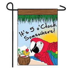 It's 5 O'Clock Somewhere 12 x 18 Inch Garden Flag Happy Hour Party Sign 12x18