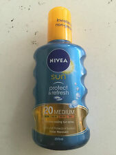 Nivea Sun Immediate Protection SPF20 Medium 200 ml Moisturising Sun Spray