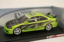 Hot Wheels Die Cast Honda Civic Green 1:18 Scale WIngs West