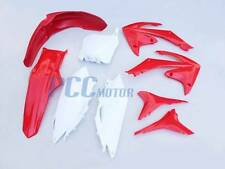 HONDA RED PLASTIC KIT CRF250R CRF450R FENDER SHROUDS NUMBER PLATES 7PCS H PS67
