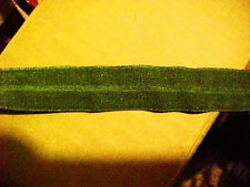 FOLDOVER Elastic Forest GREEN Army 3/4 inch 10 yds Lingerie Headbands Hair Ties