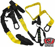 Senshi Suspension Trainer Military Straps Body Weight Training Workout Crossfit