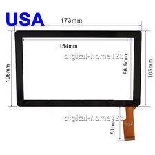 Touch Screen Digitizer For 7 inch Tablet iRulu AX745 AK012 KOCASO M752 M750B USA