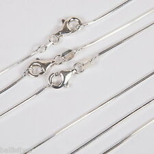 "10 pieces Sterling SILVER 925 20"" 50cm Diamond Cut SNAKE CHAIN Necklaces Lot"