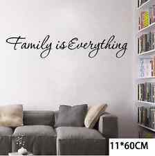 DIY Family is Everything Removable Vinyl Quote Wall Sticker Warm Home Decor UNO