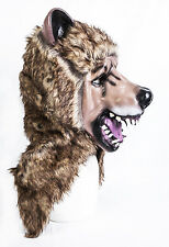 Furry Bear Mask Teddy Grizzly Latex Animal Fancy Dress Halloween Stag Night