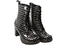 Dr. Martens Women's  Darcie Diva 8 Eye Heel Boot Black Croco US 9 EU 41 UK 7