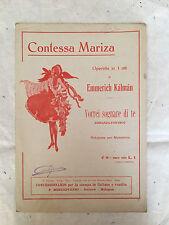 SPARTITO MUSICALE VORREI SOGNARE DI TE CONTESSA MARIZA ROMANZA FOX-TROT