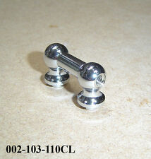 Tube Lug - Single Ended 50mm Long - Top Quality Chrome on Brass 002-103-110CL