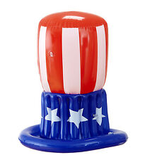 USA AMERICAN UNCLE SAM INFLATABLE STARS AND STRIPES FANCY DRESS ACCESSORY