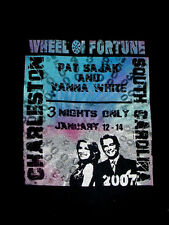 2007 TV Show ABC Wheel Of Fortune-Exclusive-SC-Pat Sajak-Vanna White-Shirt-XL
