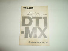 Yamaha DT1 MX Supplementary Service Information Manual FACTORY OEM DEALERSHIP
