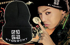 G-DRAGON GD BIGBANG GDRAGON BLACK knitting CAP GIYONGCHY HATS KPOP NEW
