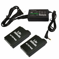 Lot2 Replace 3.6V 3600mAh Battery + 5V AC Adapter Charger for Sony PSP 1000 1001
