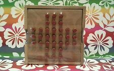 Solitaire Game Wood Peg Board by Siam Mandalay New Single Player Wood Pegs